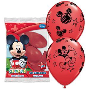 Läs mer om Musse Pigg ballonger, 6-pack