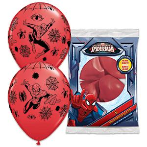 Läs mer om Spiderman-ballonger, 6-pack