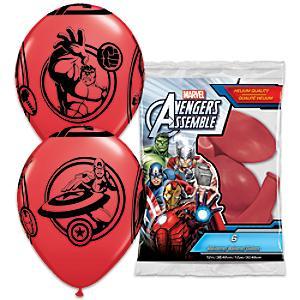 Läs mer om Avengers ballonger, set med 6