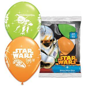 Läs mer om StarWars ballonger, 6-pack