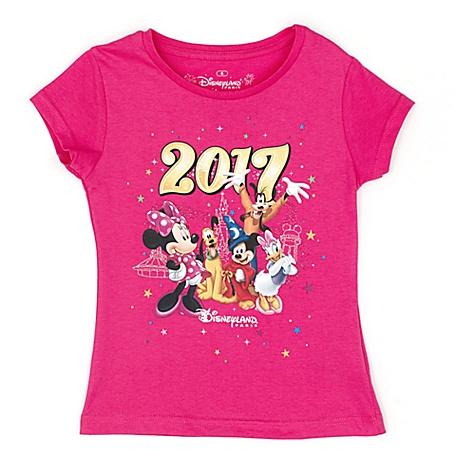 T-shirt rose pour enfants avec logo Disneyland Paris2017 - 4 ans