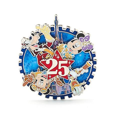 Pin's pivotant 25eanniversaire de Disneyland Paris