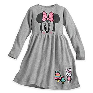 Minnie Mouse Knitted Dress For Kids -  9-10 Years