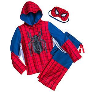 Läs mer om Spiderman Deluxe pyjamaset i 3 delar för barn