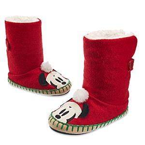 Läs mer om Musse Pigg-jultofflor i barnstorlek