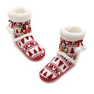 Läs mer om Musse och Mimmi Pigg-jultofflor i stövelmodell i vuxenstorlek