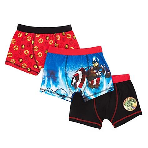 Ensemble de 3 boxers Avengers pour enfants - 5-6 ans