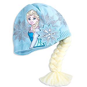 Läs mer om Frost-vintermössa med Elsa-motiv för barn
