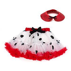 Läs mer om De 101 dalmatinerna ballerinakjol för barn med tillbehör