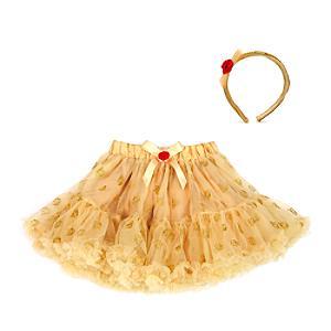 Läs mer om Belle ballerinakjol för barn med tillbehör, Skönheten och Odjuret