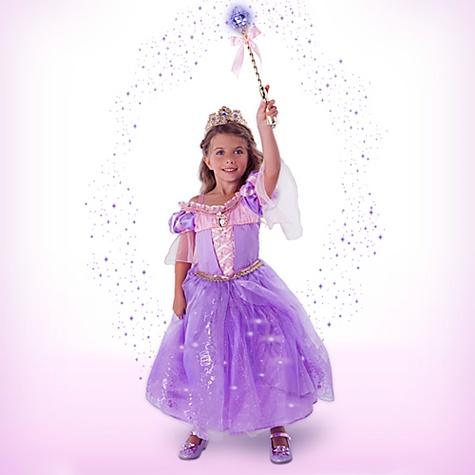 Déguisement lumineux Raiponce de luxe avec accessoires pour enfants - 5-6 ans