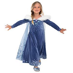 Läs mer om Elsa Deluxe maskeradklänning för barn
