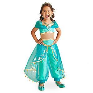 Läs mer om Prinsessan Jasmin maskeraddräkt för barn, Aladdin