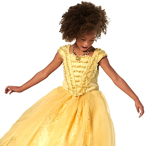 Robe de déguisement de luxe Belle pour enfants en édition limitée, La Belle et la Bête - 10 ans