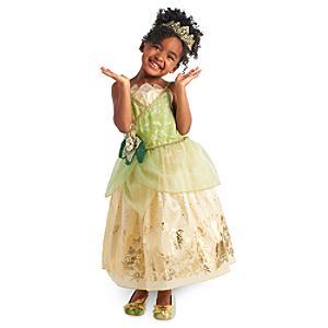 Läs mer om Tiana maskeraddräkt för barn, Prinsessan och Grodan