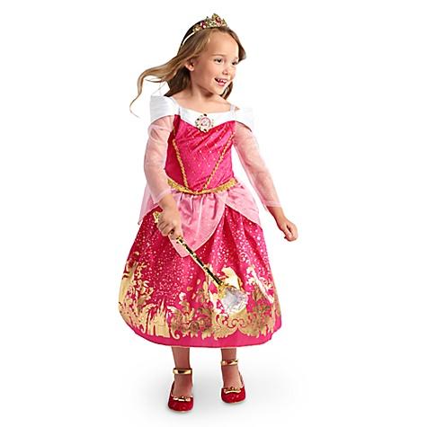 Déguisement pour enfants Aurore, La Belle au Bois Dormant - 5-6 ans