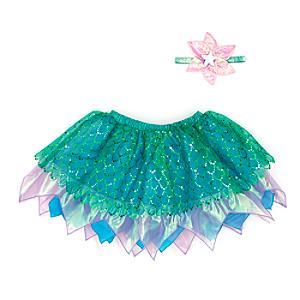 Läs mer om Ariel, set med ballerinakjol och accessoarer för barn, Den lilla sjöjungfrun