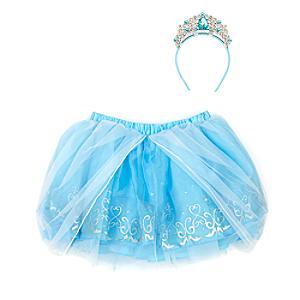 Läs mer om Askungen, set med ballerinakjol och accessoarer för barn