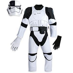 Läs mer om Utklädningskläder för en stormtrooper från First Order för barn