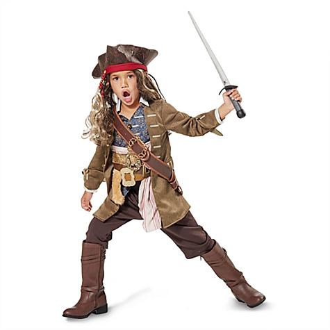 Déguisement Jack Sparrow pour enfants, Pirates des Caraïbes: La Vengeance de Salazar - 5-6 ans