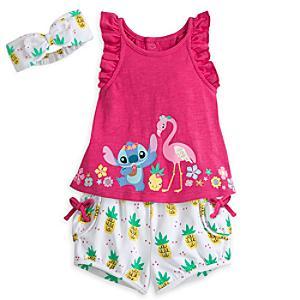 Läs mer om Stitch-babyset med topp och shorts