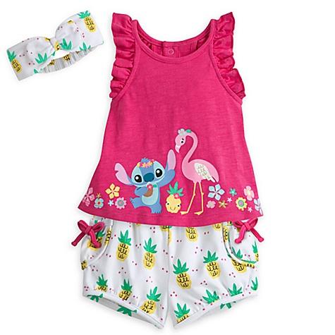 Ensemble top et short Stitch pour bébé - 0-3 mois