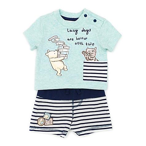 Ensemble T-shirt et short Winnie l'Ourson pour bébé - 6-9 mois