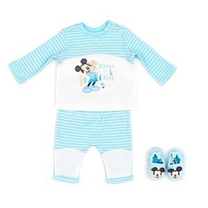 Läs mer om Musse Pigg babyset med pyjamas och tofflor