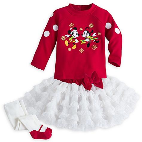 Ensemble tutu 3 pièces collection Minnie and Mickey Mouse Festive, pour bébé - 12-18 mois