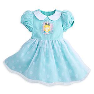 Läs mer om Alice i Underlandet-set med ballerinaklänning och trosor, babystorlek