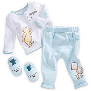 Läs mer om Nalle Puh-set med babypyjamas och tofflor