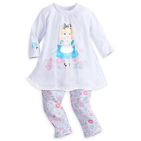 Ensemble robe et legging pour bébé Alice au Pays des Merveilles - 6-9 mois