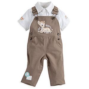 Läs mer om Bambi babyset med skjorta och hängselbyxor