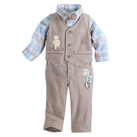 Ensemble body, pantalon et gilet pour bébé Winnie l'Ourson - 9-12 mois
