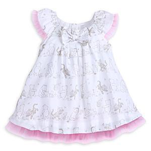 Läs mer om Nalle Puh-festklänning i babystorlek