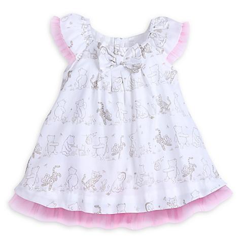 Ensemble robe et culotte de fête Winnie l'Ourson - nouveau né