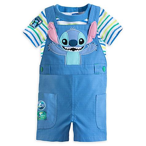 Ensemble body et salopette Stitch pour bébé - 6-9 mois