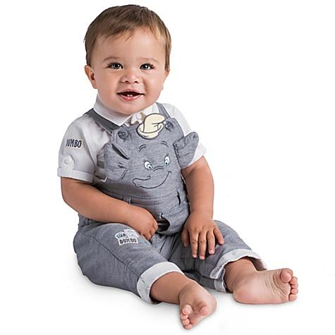 Ensemble salopette et chemise Dumbo pour bébé - 0-3 mois