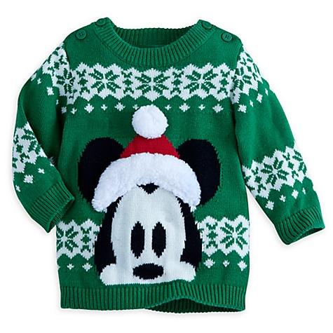 Pull de Noël Mickey Mouse, pour bébé - 0-3 mois