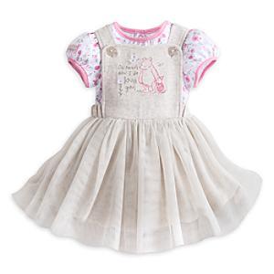 Läs mer om Nalle Puh-set med madickenförkläde i babystorlek