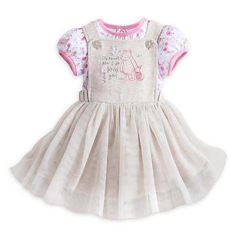 Ensemble robe chasuble pour bébé Winnie l'Ourson - 9-12 mois