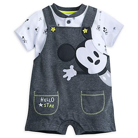 Ensemble body et salopette Mickey Mouse pour bébé - 9-12 mois