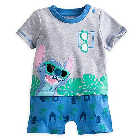 Grenouillère Stitch pour bébé - 3-6 mois