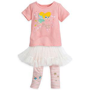 Läs mer om Tingeling-babyset med topp, överdragsbyxor och ballerinakjol