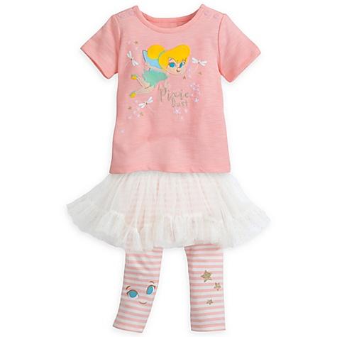 Ensemble haut et legging à tutu Fée Clochette pour bébé - 3-6 mois