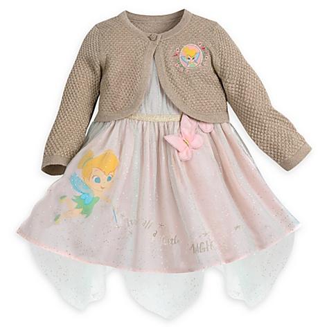 Ensemble robe, gilet et culotte de fête Fée Clochette pour bébé - 18-24 mois