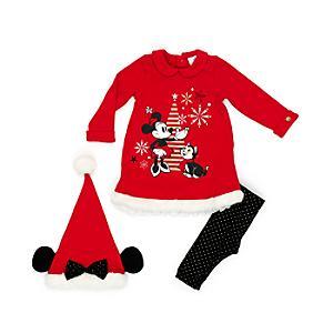 Läs mer om Mimmi Pigg babyklänning, leggings och mössa