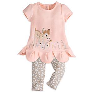 Läs mer om Bambi babyset med klänning och leggings