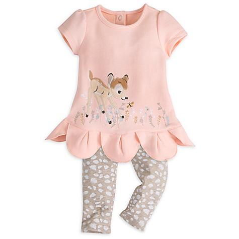 Ensemble robe et legging Bambi Layette pour bébé - 3-6 mois