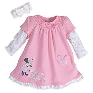 Läs mer om Mimmi Pigg babyset med klänning och hårband